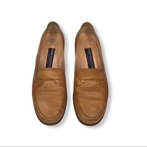 Vintage Mario Valentino Leather Loafers.